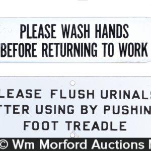 Porcelain Rest Room Signs