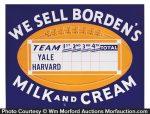 Borden's Ivy League Football Sign
