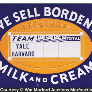 Borden's Ivy League Football Sign