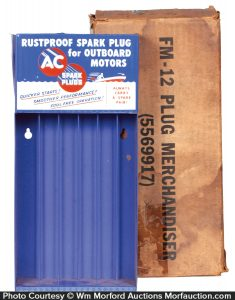 Outboard Motors Spark Plugs Display