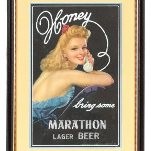 Marathon Beer Sign