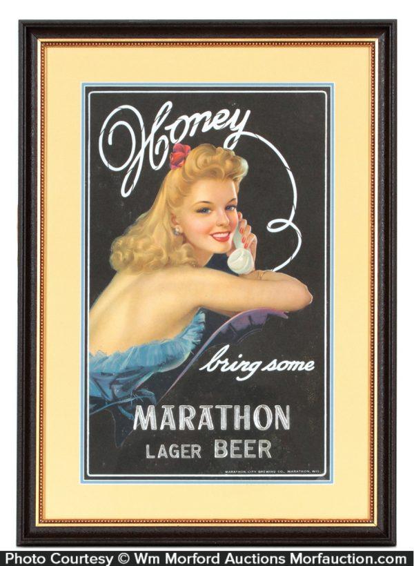 Marathon Beer Sign
