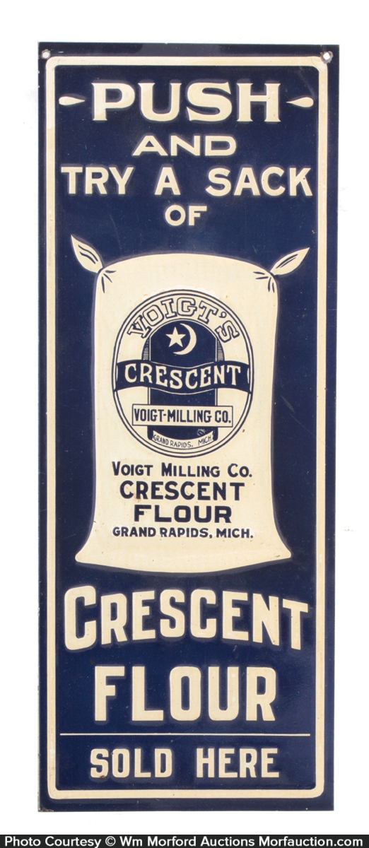 Crescent Flour Door Push