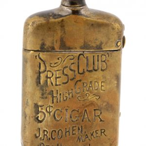 Press Club Cigars Match Safe
