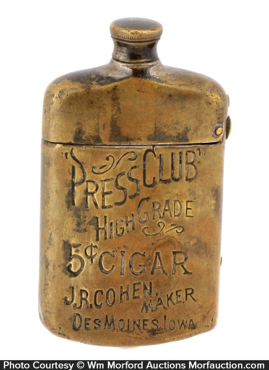 Press Club Cigars Match Safe