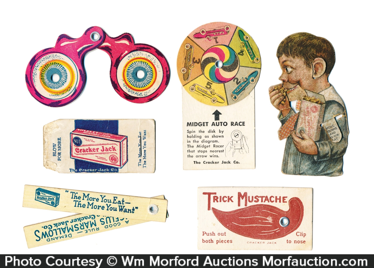 Cardboard Cracker Jack Prizes
