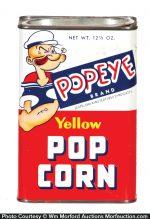 Popeye Popcorn Tin