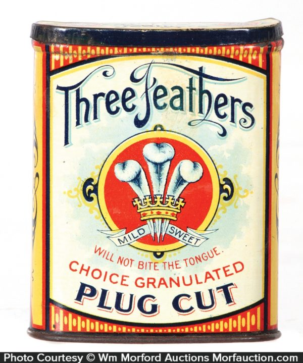 Three Feathers Pocket Tin