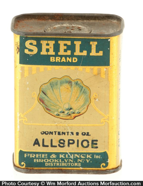 Shell Spice Tin