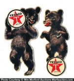 Texaco Die-Cut Bears