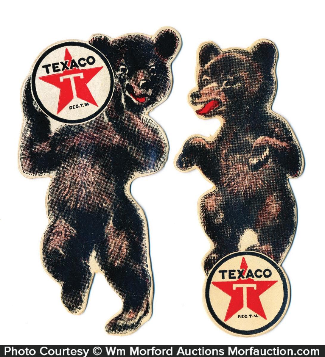 Texaco Die-Cut Bears