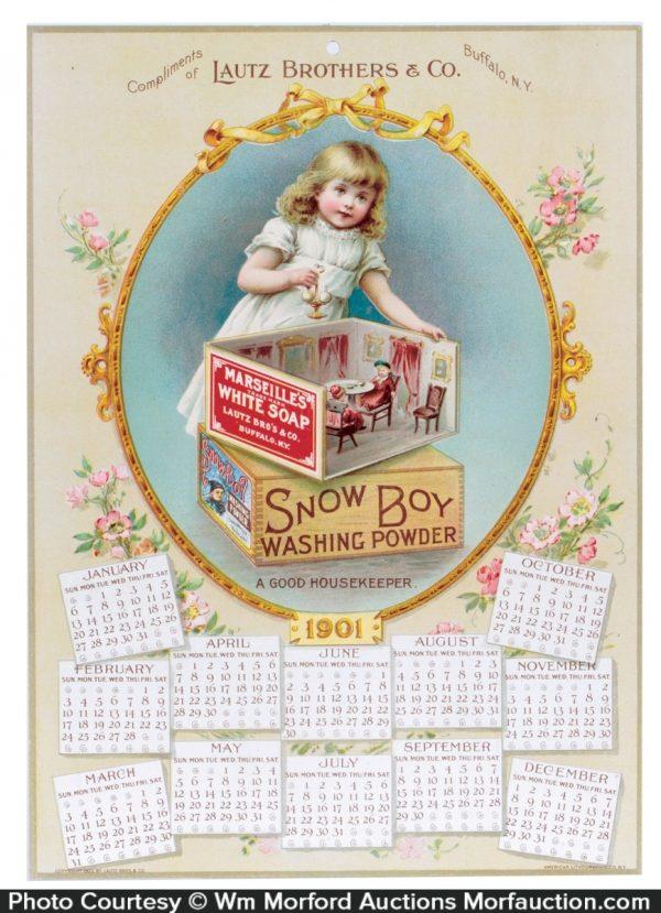 Snow Boy Soap Calendar