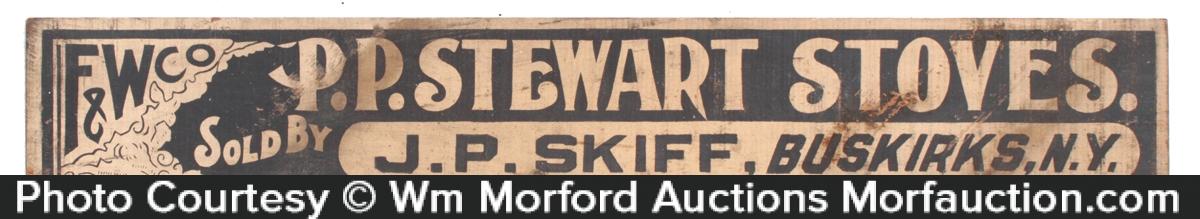 Stewart Stoves Sign