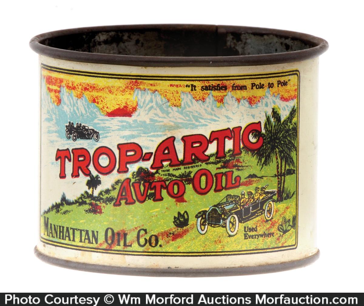 Antique Advertising Trop Artic Motor Oil Cup Antique