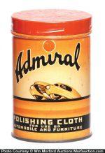 Admiral Polishing Cloth Tin