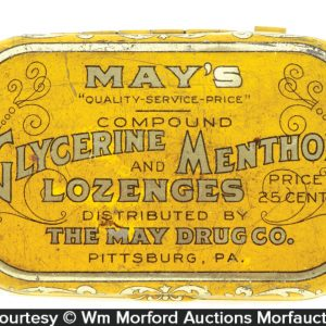 May's Lozenges Tin