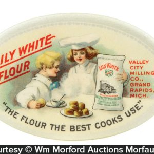 Lily White Flour Pocket Mirror