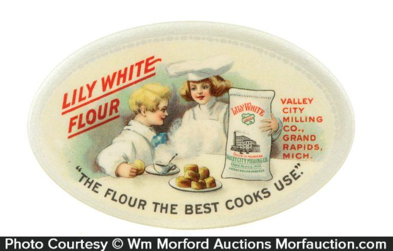 Lily White Flour Pocket Mirror
