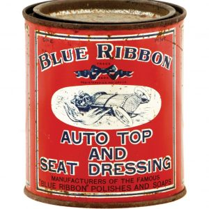 Blue Ribbon Car Polish Tin