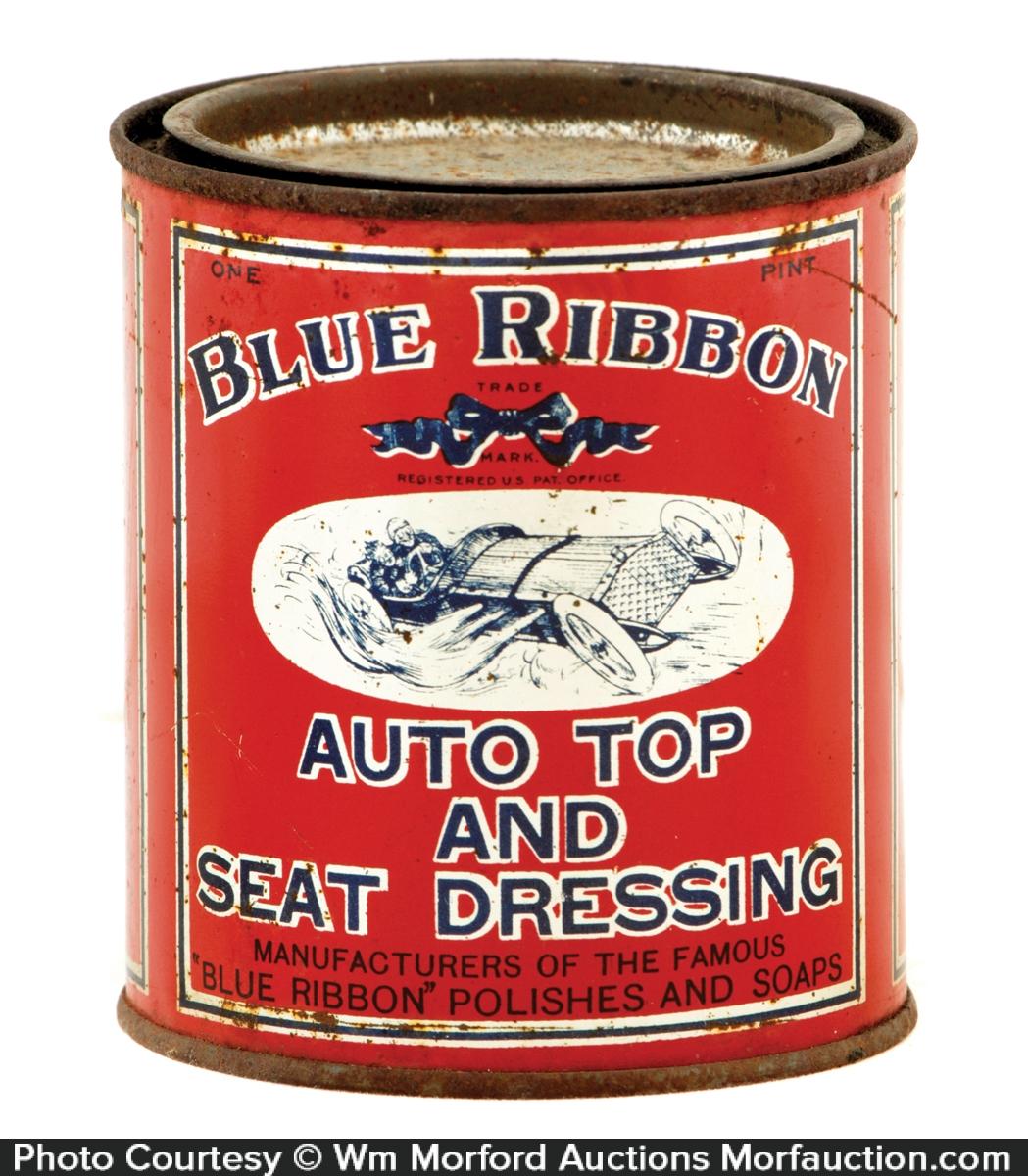 Blue Ribbon Car Polish Tin