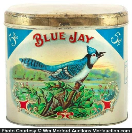 Blue Jay Cigar Can