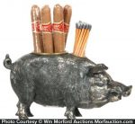 Boar Cigar Match Holder