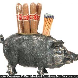 Boar Cigar Match Holder