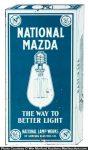 National Mazda Lamps Door Push