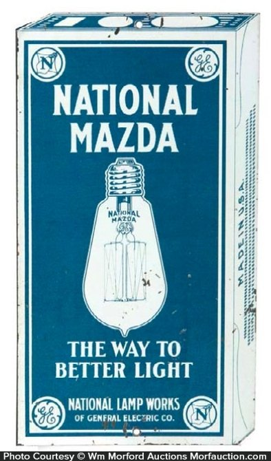 National Mazda Lamps Door Push