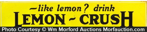 Lemon Crush Sign