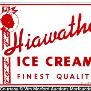Hiawatha Ice Cream Sign