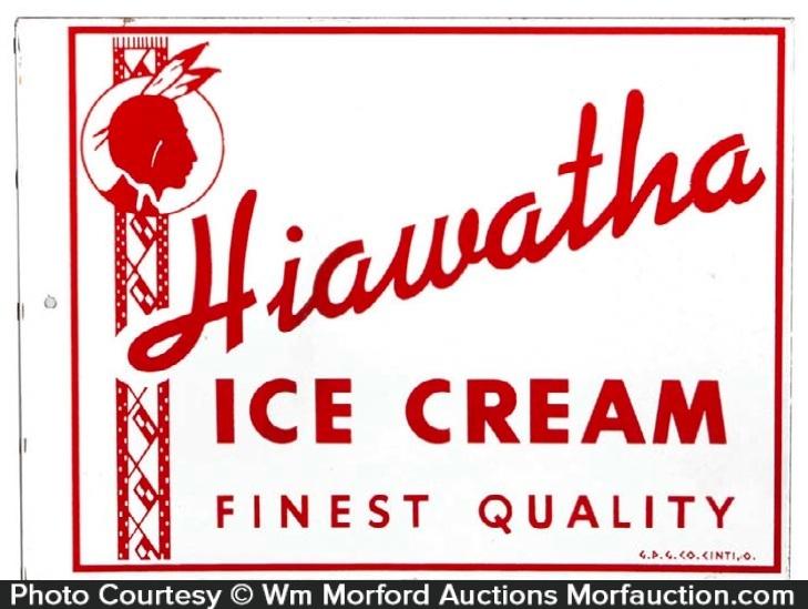 Hiawatha Ice Cream Sign