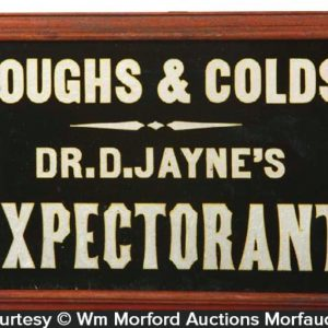 Dr. D. Jayne's Expectorant Sign