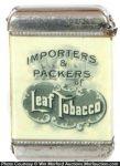 Leaf Tobacco Match Safe