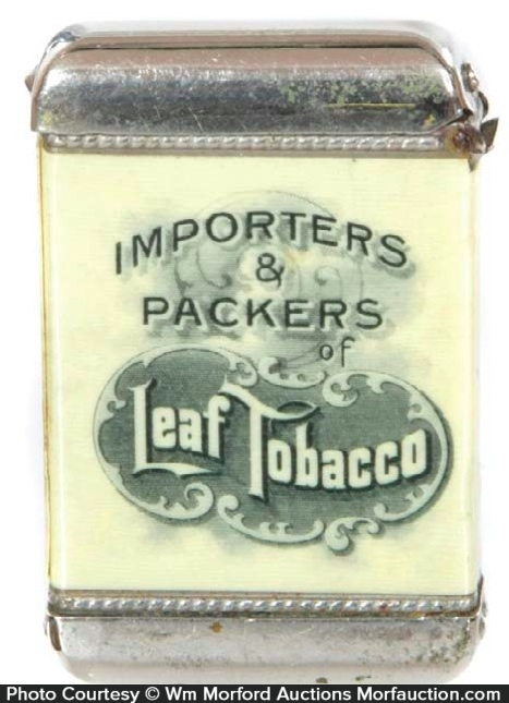 Leaf Tobacco Match Safe