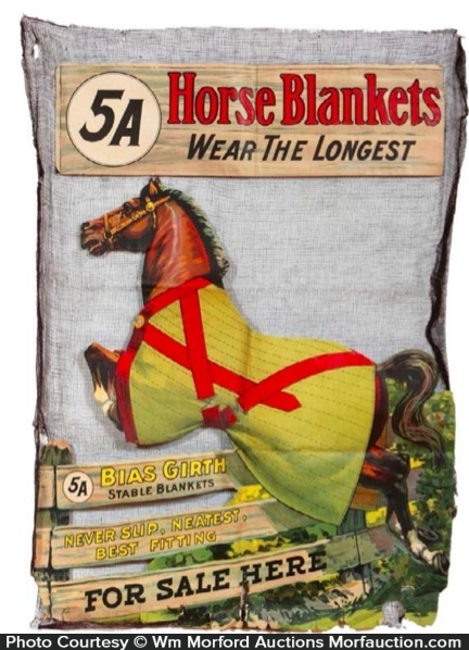 5A Horse Blankets Window Display