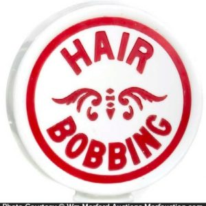 Hair Bobbing Globe Sign