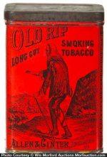 Old Rip Tobacco Tin