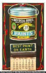Boydell Paints Match Holder Calendar