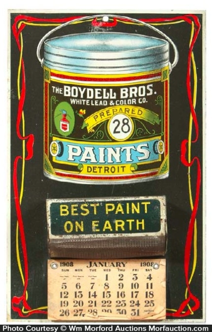 Boydell Paints Match Holder Calendar