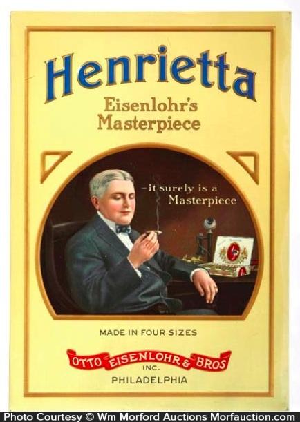 Eisenlohr's Henrietta Cigars Sign