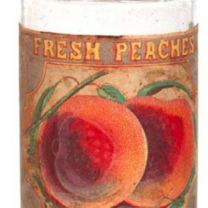 Fresh Peaches Fruit Jar