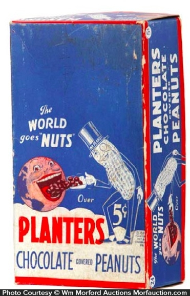 Planters Chocolate Peanuts Box