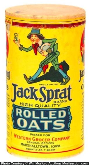 Jack Sprat Oats Box