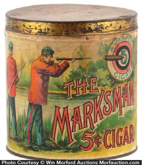 Marksman Cigar Can