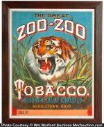 Zoo-Zoo Tobacco Sign