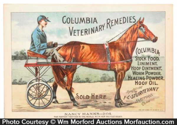 Columbia Veterinary Remedies Sign