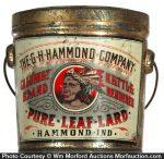 Hammond Calumet Pure Leaf Lard Pail