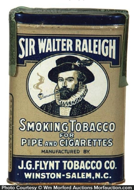 Sir Walter Raleigh Tobacco Tin