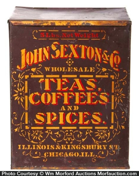 John Sexton Tea Coffee & Spice Bin